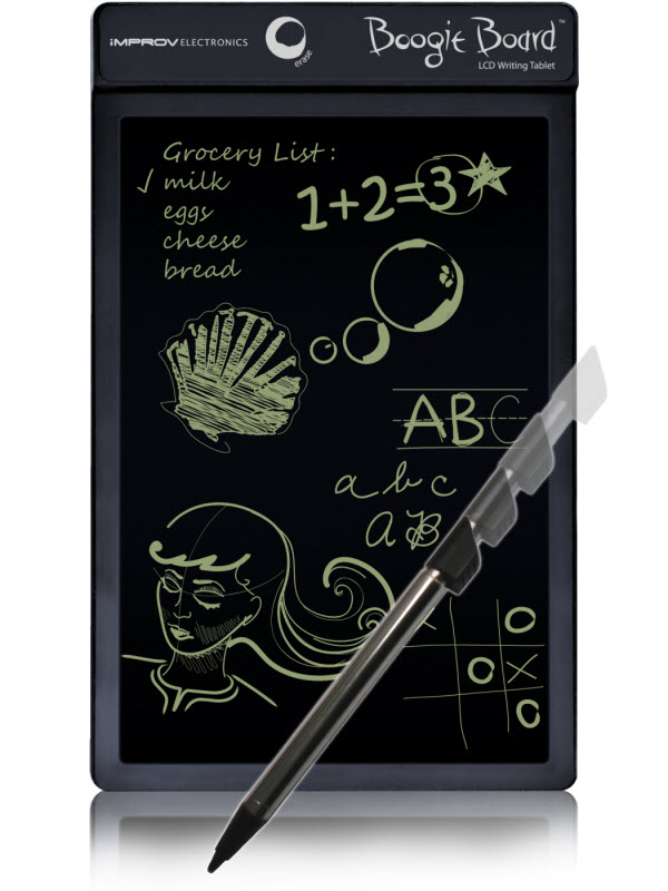 boogie board lcd writing tablet reviews Boogie board sync: an erasable lcd tablet with bluetooth the boogie board sync can be fun for kids and useful for adults also, it is now bluetooth enabled.