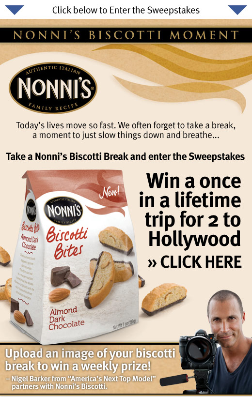 Biscotti Moments Sweepstakes – Win a trip to Hollywood!