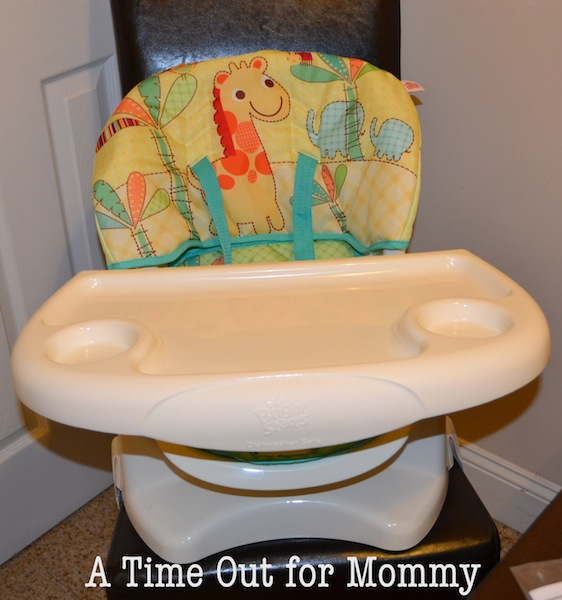 I was a little hesitant about the fabric on the chair thinking that it would be hard to clean when it gets dirty. It turns out that the padding comes off ... & Bringing Home Baby Event: Bright Starts Sunnyside Safari Chair Top ...