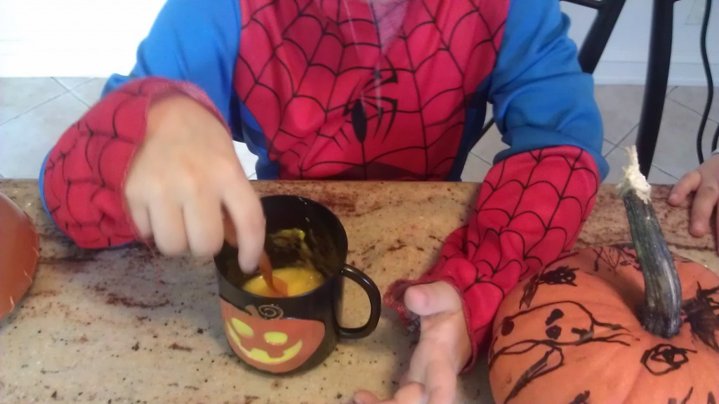 pumpkin soup with toasted pumpkin seeds - a time out for mommy