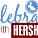 celebrate with hersheys logo