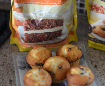 Using Splenda as a Sugar Substitute in Mini Chocolate Chip Muffins #SweetSwaps