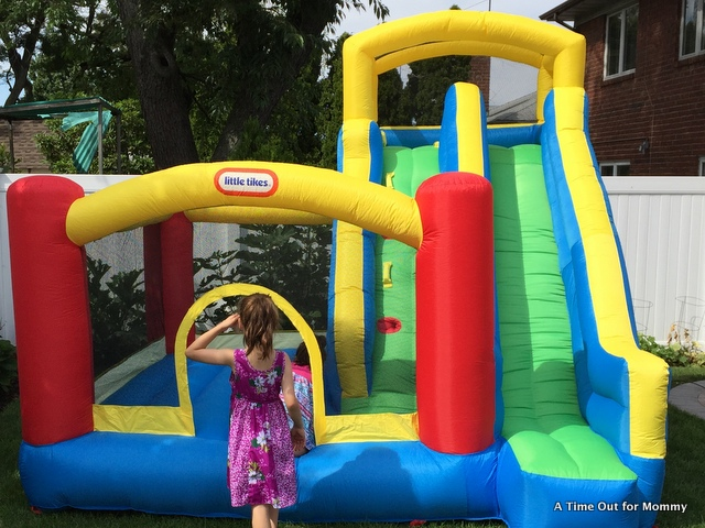 My Backyard Isnu0027t Large By Any Means, So I Was Ecstatic When We Blew Up The Bounce  House And It Fit Perfectly In Our Yard. The Easy Setup And Clean Up Of ...