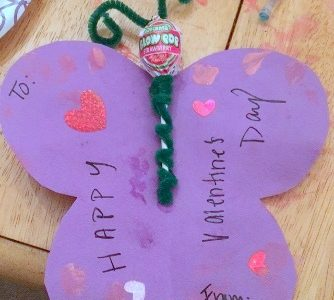 Valentine's Day Craft for Kids – Paper Butterflies