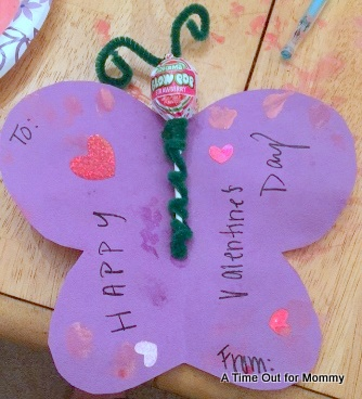 Valentines Day Craft for Kids  Paper Butterflies  A Time Out