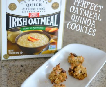 The Perfect Oatmeal-Quinoa Cookies with #McCannsIrishOats #ad