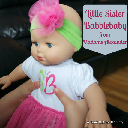 A New Little Sister From Madame Alexander A Time Out For