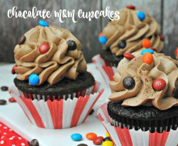 Chocolate Cupcakes with M&Ms Recipe