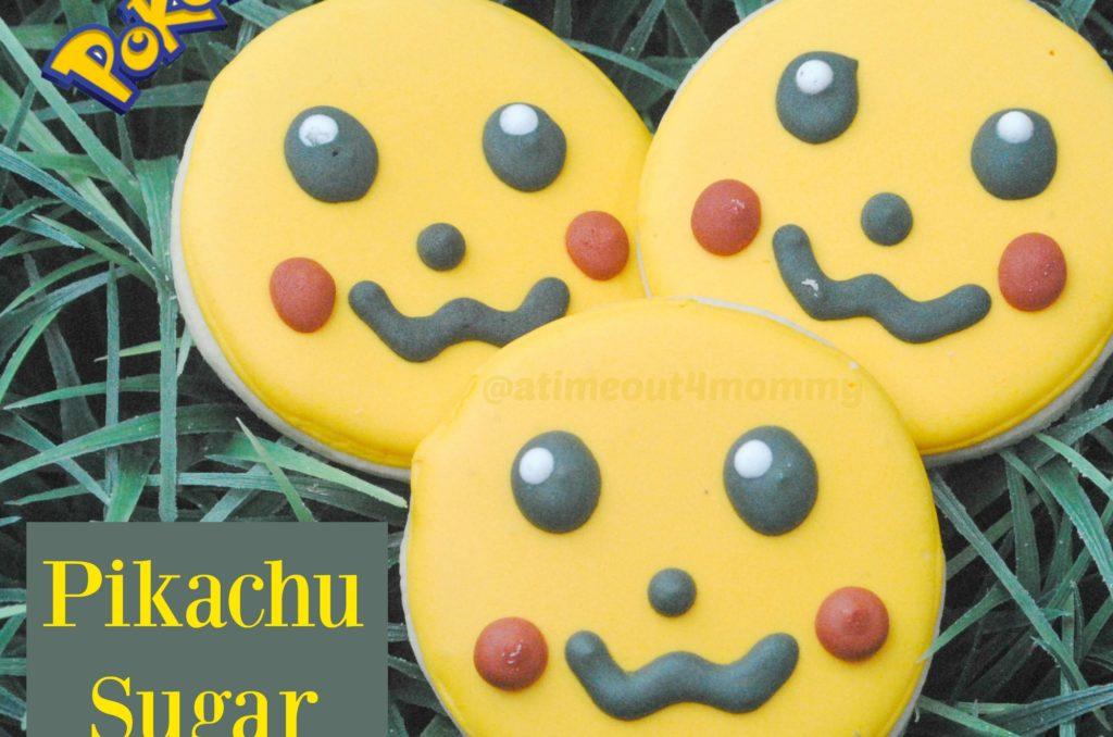 Pokemon Themed Pikachu Sugar Cookies #PokemonGo