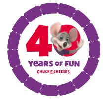 Chuck E Cheese Celebrates 40 Years of Fun with Giveaways!