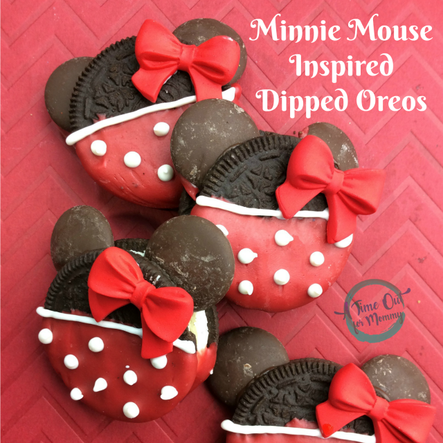 Minnie Mouse Inspired Dipped Oreos