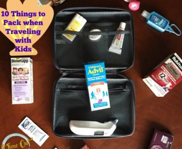 10 Things to Pack when Traveling with Kids