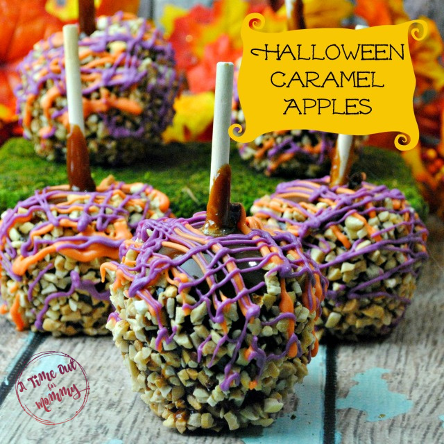 Super Easy Halloween Caramel Apples With The Kids A Time Out For Mommy