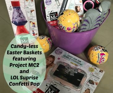 Candyless Easter Baskets featuring Project MC2 and LOL Confetti Pop